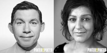 Lee Evans and Meera Syal join the cast of Pinter at the Pinter