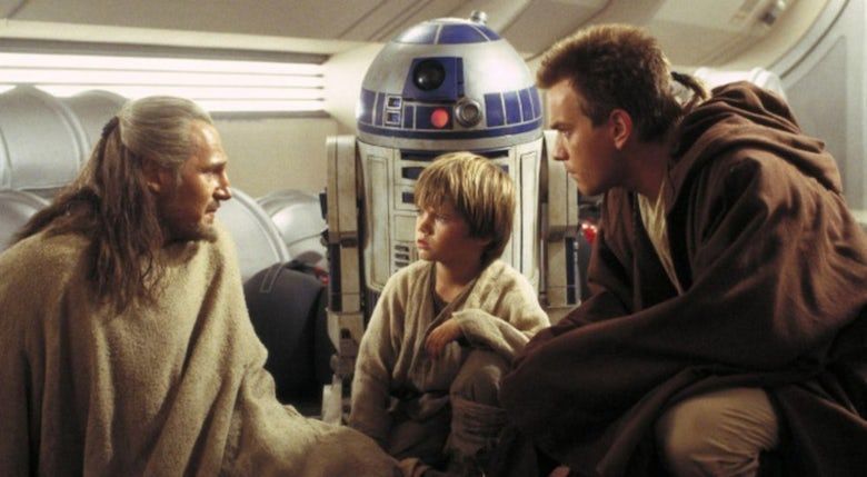 Obi-Wan, Anakin and Qui-Gon in Star Wars Phantom Menace