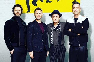 Legendary pop singer Lulu joins Take That on stage for their musical 'The Band'