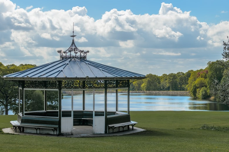 Bandstand at Roundhay Park in Leeds