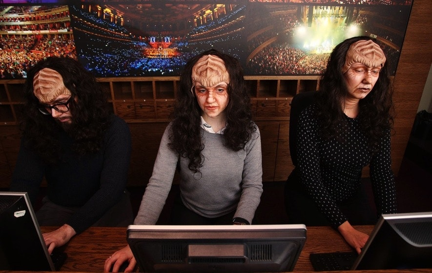 Staff of the Royal Albert Hall box office might be taking your next ticket order in Klingon