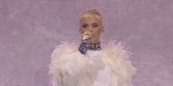 Watch Katy Perry perform 'Roar' at Manchester's 'One Love' Fundraiser gig.
