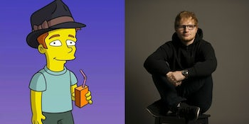Watch: Ed Sheeran is getting his very own 'The Simpsons' character