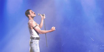 Viral video reveals how perfectly Rami Malek recreated Freddie Mercury's Live Aid performance in 'Bohemian Rhapsody'