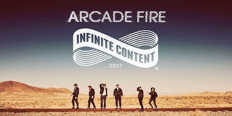 Arcade Fire announce Infinite Content Tour.
