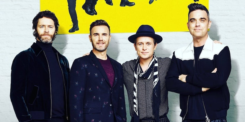 Take That surprise fans by appearing at their new musical 'The Band'