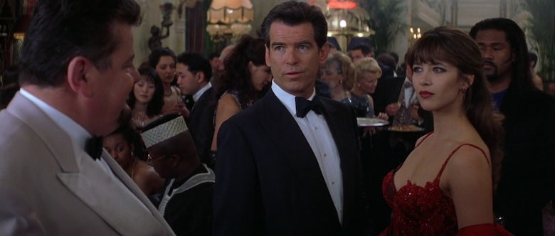 Pierce Brosnan and Sophie Marceau in James Bond