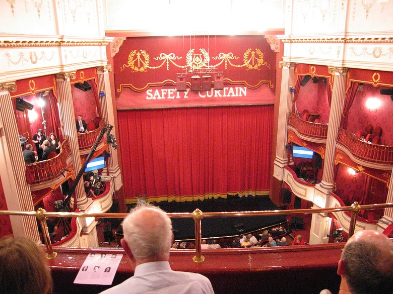 The circle or mezzanine provide a higher view of the stage, usually unobstructed
